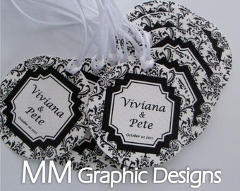 Personalized 1.75inch Thank you Circle Tags - Set of 80 - Weddings - Baby Shower - Birthday - Bridal Shower