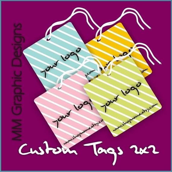 100 Custom Tags - 2x2inch