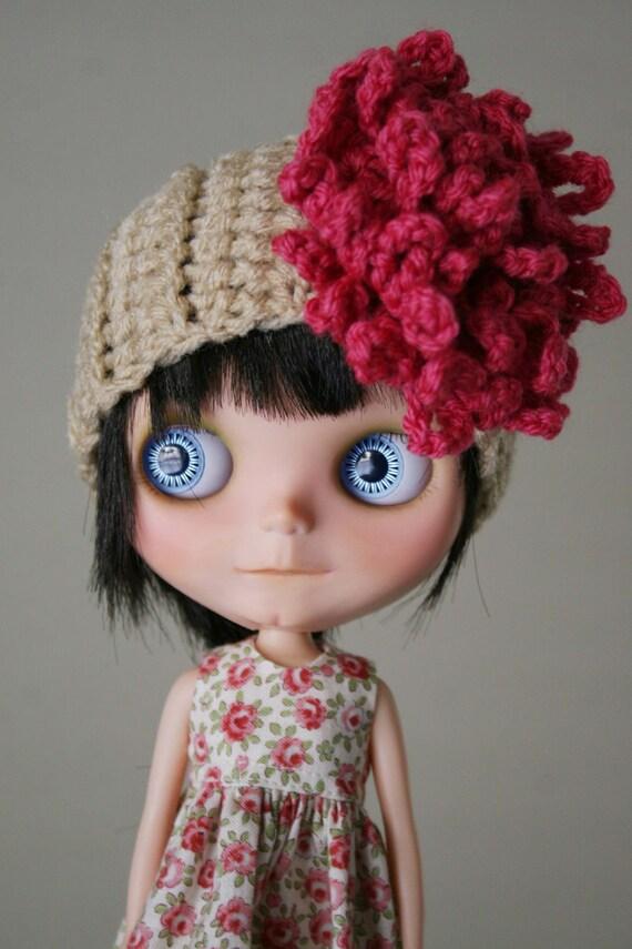 Cute Flower Headband for Blythe - Crochet No. 16