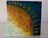 Written Sunrise - Small Original Painting