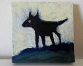 Walking Coyote - Small Original Painting