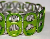 Now on Sale - Go Green Recycled Soda Tab Bracelet - made from special green tabs