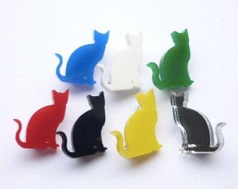 Mini Katze sitzend Brosche