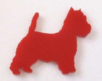 West Highland Terrier Brosche