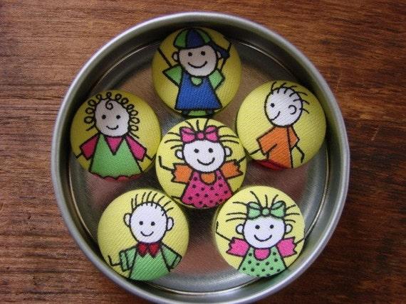 Happy Stick Children Magnets