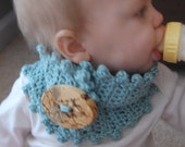 Baby or Toddler Neckwarmer Crystal Blue (etsy free shipping)