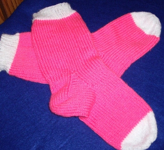 Neon Pink Socks for Teens who love bright colors