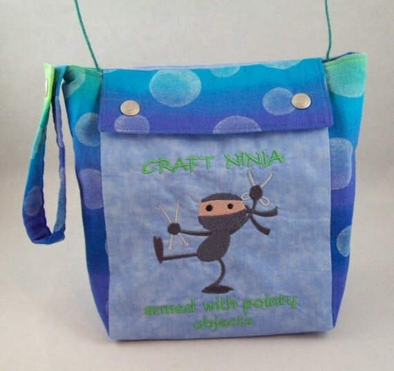 Craft Ninja Knitting Project Bag with Yarn Guides