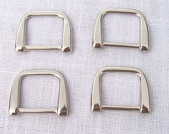 Set of 4 High Quality Solid Diecast Nickel D Rings for 1 Inch strap