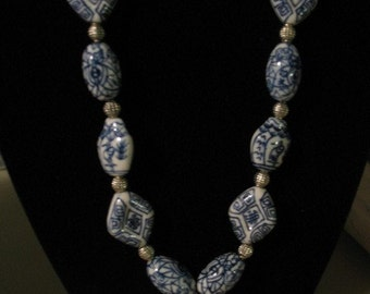Necklace - Porcelain with Cross Pendant N0088