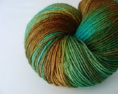 RESERVED - Bulrushes - Hand Dyed BFL-Nylon Fingering Weight Yarn