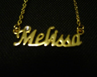 Melissa: Gold Tone (Necklace) - LAST ONE!