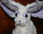 Stagbunny, Furry white (Jackalope)