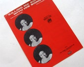 Vintage Sheet Music Killing Me Softly With His Song Roberta Flack Red Black 1970s