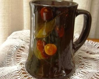 Vintage Weller Louwelsa Art Pottery Mug Tankard Cherry Pattern