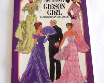 Vintage Paper Doll Book Gibson Girl Tom Tierney Fashions Series Unused Uncut 1985