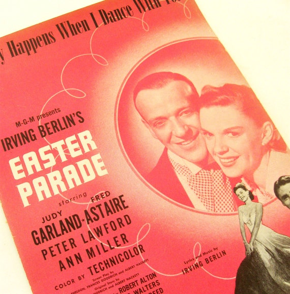 Vintage Sheet Music Irving Berlin It Only Happens When I Dance With You 1940s