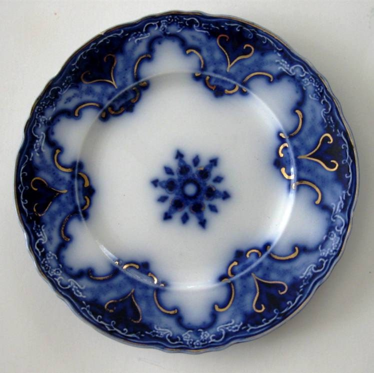 Vintage Flow Blue Plate Cambridge Pattern Alfred By