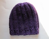 Beautiful Purple Knit Beanie