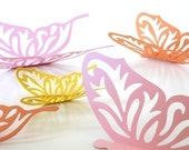 Wall Butterflies 3D Stickers AVALINE in pink, orange and yellow