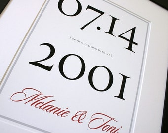 Wedding Poster or Alternative Guest Book