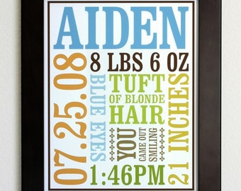 Custom Baby Birth Poster Style 1