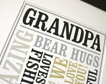 Custom Grandpa Gift Poster Personalized