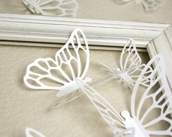 Wall Butterflies 3D Stickers KALIAH in white