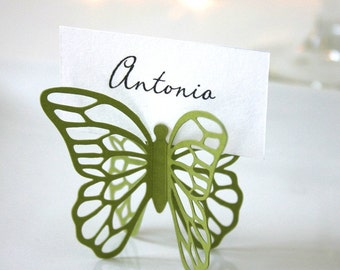 Butterfly Place Cards - Moss Green - Set of 100