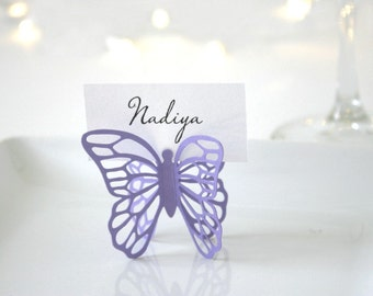 Butterfly Place Cards - Purple - Set of 100