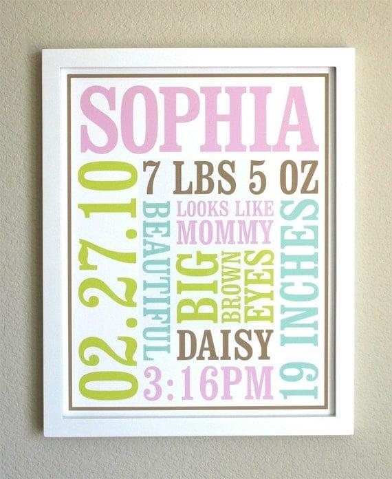 Custom Baby Birth Poster Style 1