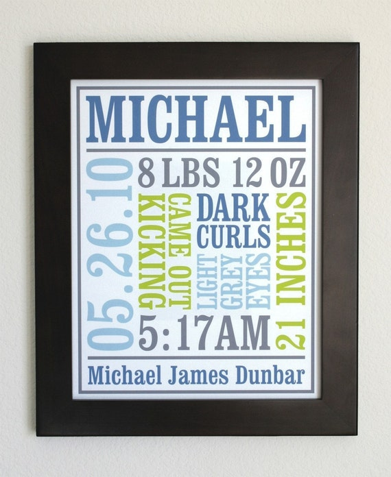 Custom Baby Birth Poster Style 2