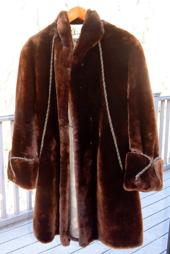 Authentic Seal Fur Coat Vintage by ThreeSugarsPlease on Etsy