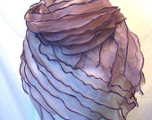 Fold and Flow Organza Shoulder Wrap Purple