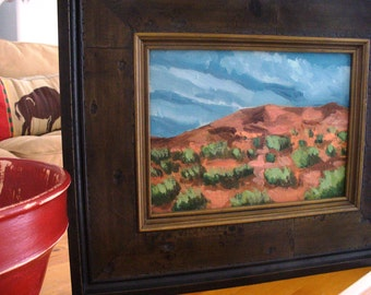 Southwestern Landscape Original Painting Utah Landscape Custom Framed Home Decor
