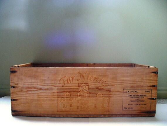 Rustic Wedding Wine Crate Box Vintage