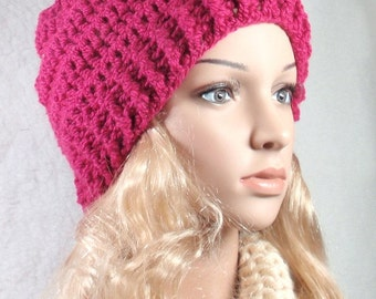 1 hour PDF- Crocheted- Slouchy hat, cowl, neckwarmer for beginner