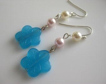 Blue Hawaiian Earrings