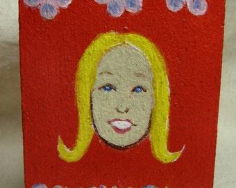 Psychopath - original painting on wood block