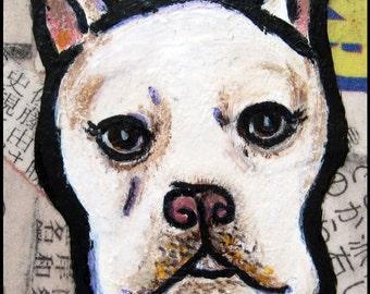 French Bulldog 4 x 6 print of original painting