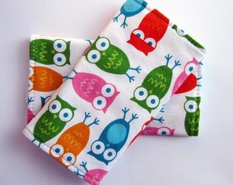Sucking Pads NO Ribbon- Chew Pads - Fits Ergo, Beco, Boba, Mei Tai and More - Owls in Bright