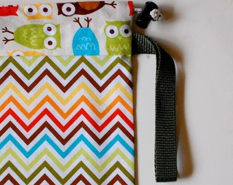 Baby Carrier Stuff Sack - Fits the ERGOBaby, Boba, TULA, Kinderpack, Moby and More - Chevron Owls