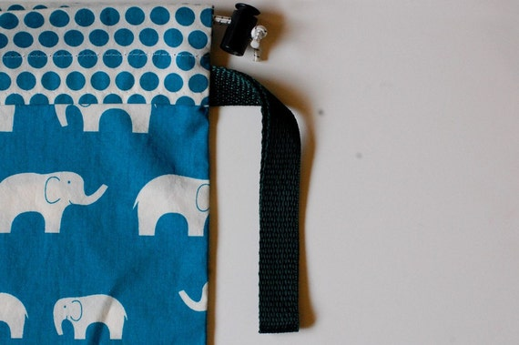 Organic Baby Carrier Stuff Sack - Fits the ERGOBaby, Boba, TULA, Kinderpack, Moby and More - Elephants