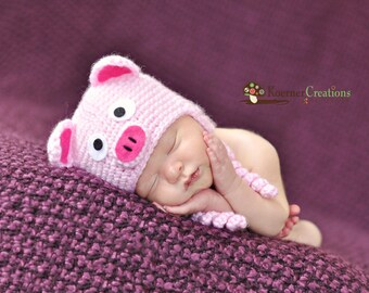 Lil Piggy (Hat Only) newborn photography prop
