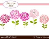 Clip art Flowers, Blooming 2 , Digital clipart Png,Jpeg, File instant download clip art