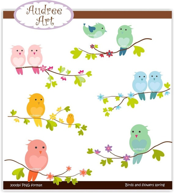 clipart flowers and birds - photo #14