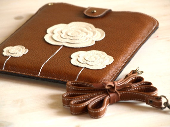 DESIGN YOUR OWN iPad Case Rustic Woodland Flowers Cross Body   S t r a p