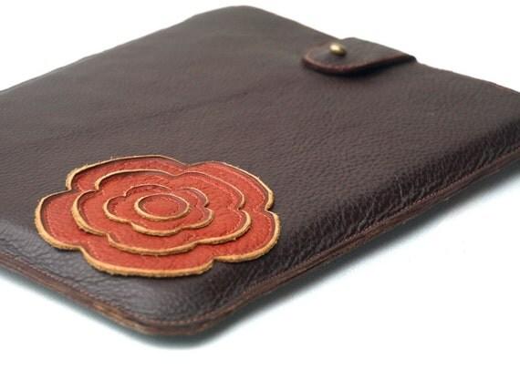 ipad Air Case for women, ipad air bag, ipad air pouch, ipad air cover, new ipad air case - femine ipad case - brown leather bag, december