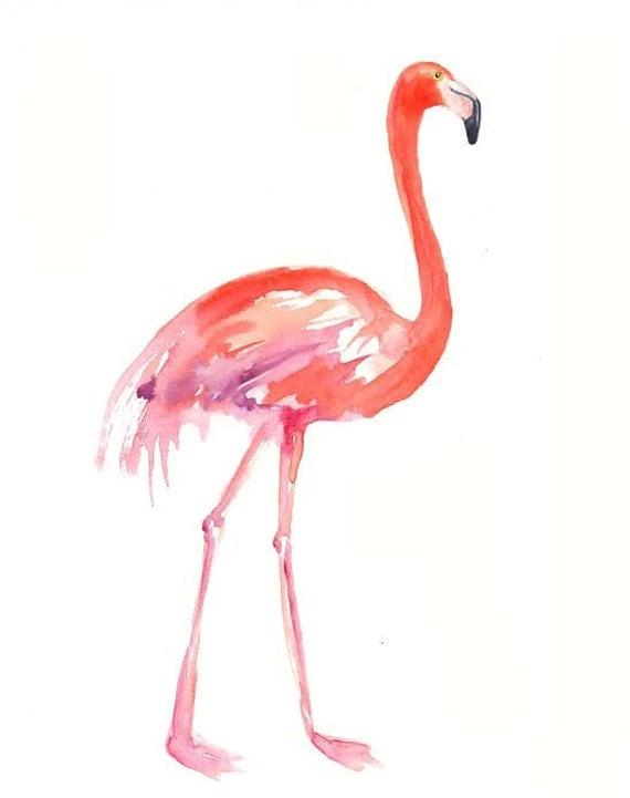 FLAMINGO by DIMDI Original watercolor painting