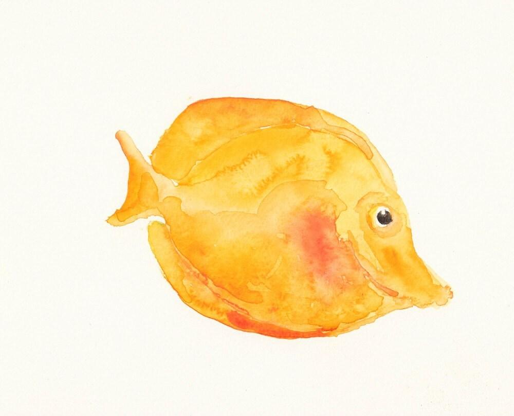 TROPICAL FISH Original watercolor painting 10X8inch